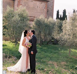 Heather & Christopher in Pienza, Italy