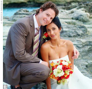 Thara & Joel in Grand Cayman, Cayman Islands