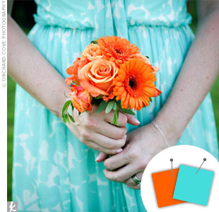 Orange Wedding Color Combos