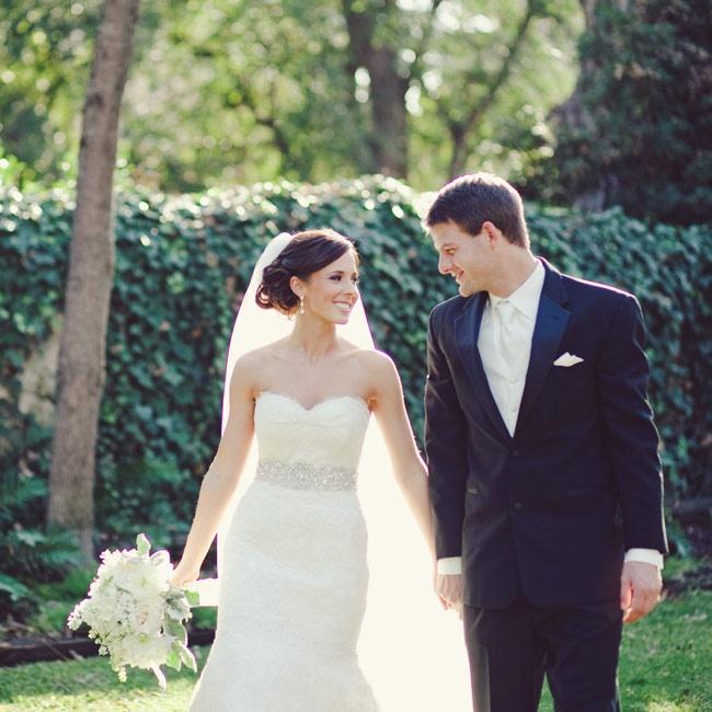 Stephanie & Brett's Glamorous Vintage Wedding - Bride & Groom