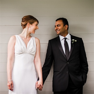 April & Ashwin in Waltham, MA