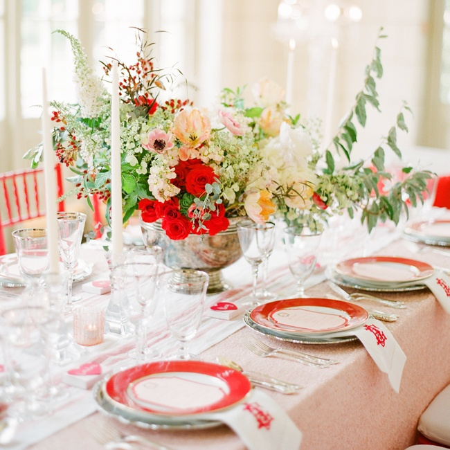 A Bold Red and Green Inspiration Shoot