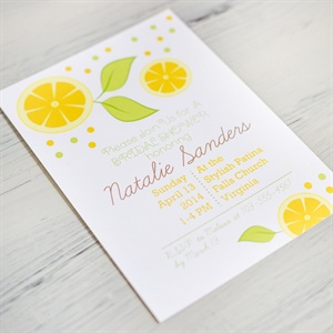 A Citrus-Themed Bridal Shower