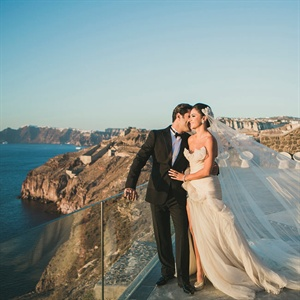 Mariam & Bassel in Santorini, Greece