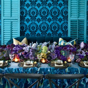 Edgy Jewel-Tone Table Decor Inspiration