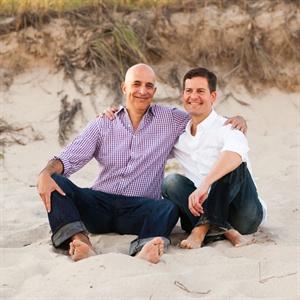 Paul & Joe in East Hampton Beach, NY
