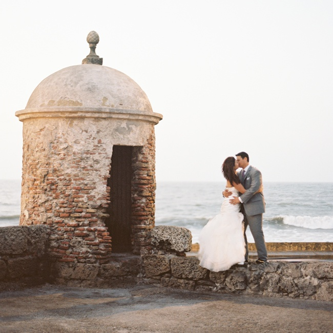 Julie & Alvaro in Cartagena, Colombia
