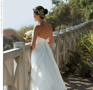 The bride wore a Domo Adami gown with ten layers of French tulle and silk organza.