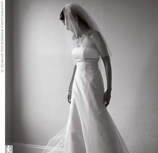 Kleinfeld Bridal fit Rosie's Watters Bride A-line organza gown to perfection.