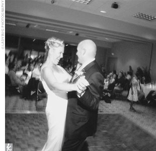"The couple opened the dance floor to the band's rendition of  ""It Had To Be You,"" and then they treated the group to an evening of swing numbers, Sinatra tunes, big-band songs, and a few more modern ballads."