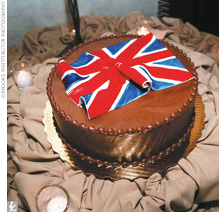 "The groom's cake featured a Union Jack flag -- ""Lee wouldn't have it any other way!"""