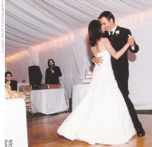 "The couple's first dance was to song called ""Quiet Nights of Quiet Stars,"" a Brazilian song that the guitarist played. A friend who is a disc jockey at a Los Angeles club played dance music and the couple's friends took turns spinning tunes. ""The party was supposed to end at midnight,"" says Lee, ""but when we left for our room at 2 a.m., our friends ..."