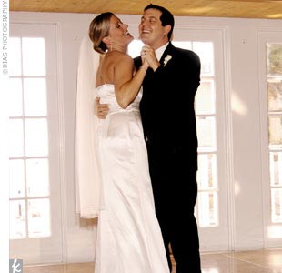 """Our first dance was 'Crush' by The Dave Matthews Band,"" Trista says. ""It was just a big celebration from there on out!"""