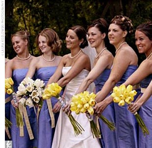 """I really wanted a relaxing fun atmosphere to celebrate such a great day in our lives,"" Brooke says. ""I wanted it slightly more casual, and on the water where I grew up sailing, waterskiing, beach bumming…."" The dresses she chose for her eight bridesmaids set the color scheme for a casual beach affair. Once Brooke had settled on the designer Aria,  ..."