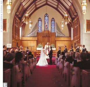 The couple asked their aunts to perform special readings during their ceremony at the First United Methodist Church of Birmingham.