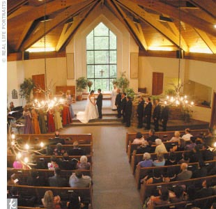 Staci and Adam exchanged vows in a small chapel nestled next to a creek among the evergreens and aspens in Beaver Creek.