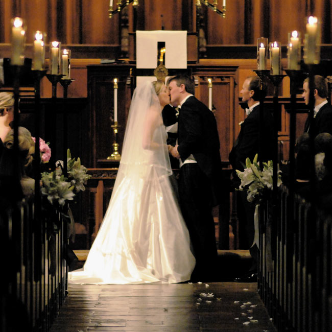 The ceremony was held at one of the oldest churches in Winston-Salem.