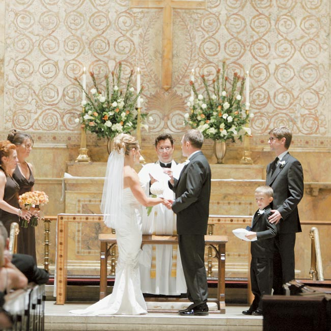 Renee and David were married in a historic church in the heart of Greenwich Village.