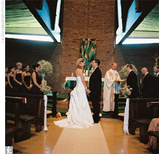 The priest who presided over the traditional Catholic ceremony had known the bride since she was four years old.