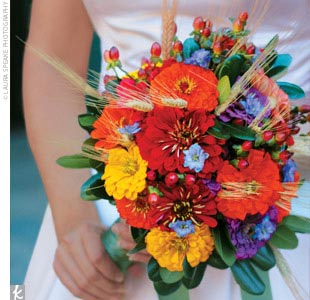 Zinnia Wedding Flowers