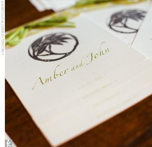 Amber and John highlighted John's Laotian heritage by incorporating orchids and bamboo throughout the celebration. The invitations and programs, which featured a custom letterpress-printed bamboo motif, were the first to introduce the theme.
