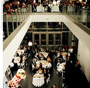 The reception unfolded at the Tacoma Art Museum, a modern-looking, brightly lit space with huge white walls, metal, glass, and light wood accents.