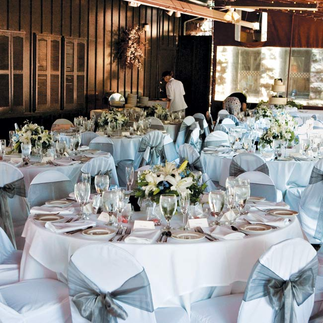 Appropriately for a well-traveled pair, the reception was held in a tented courtyard adjacent to Ann Arbor's old train depot, connected to the intimate Gandy Dancer Restaurant. The space was cozy, but the well-orchestrated staff and satisfying fare made for a flawless night.