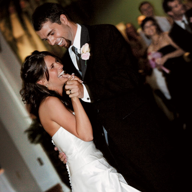 """The newlyweds kicked things off with their first dance to Keb Mo's """"Every Morning."""""""