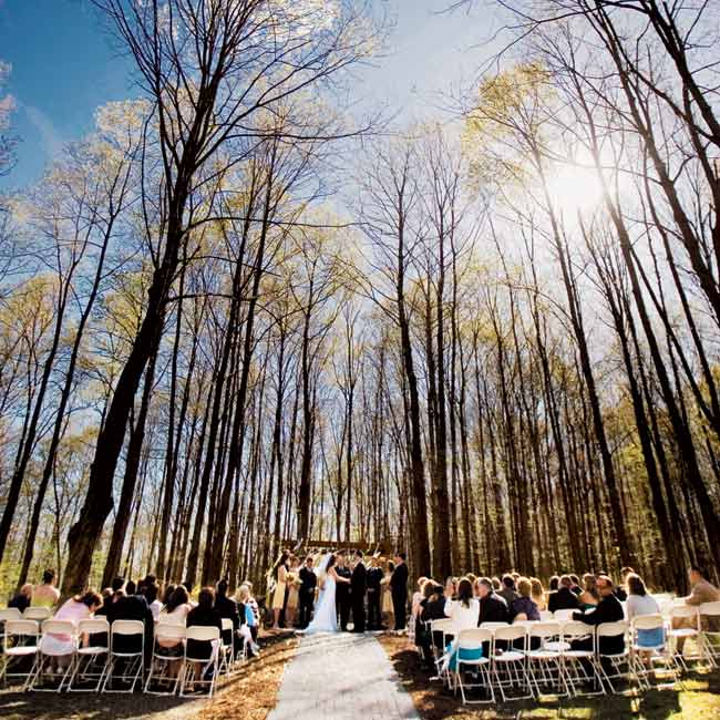 ... was married... Outdoor Stage In The Woods