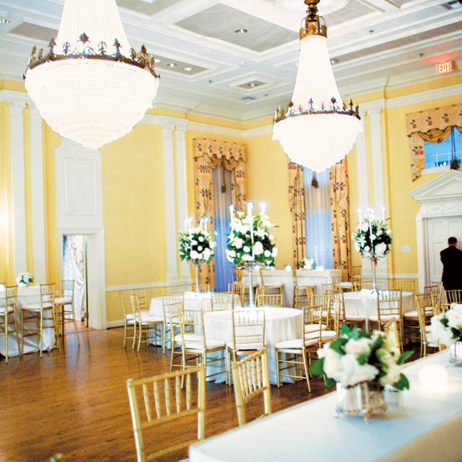 Guests moved between the different rooms and areas, which were each decorated to complement the space.
