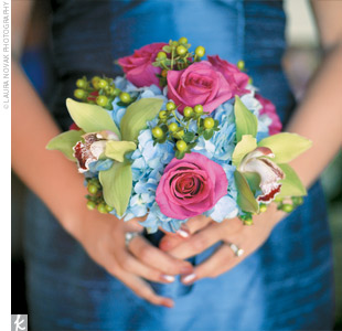 Pink Green And Blue Weddings
