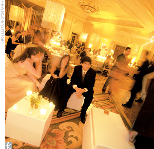 A diamond-shaped dance floor commanded center stage and was surrounded by swanky lounge areas.