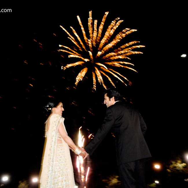 "The evening ended with a fireworks display during dessert and ""lots and lots of dancing,"" Joy says."