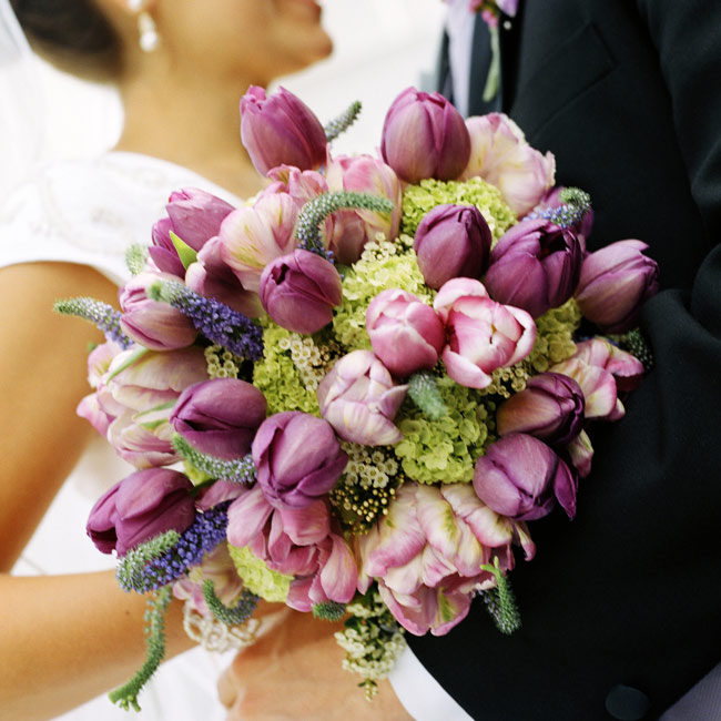 Memorable Wedding Pretty Purple Wedding Flowers