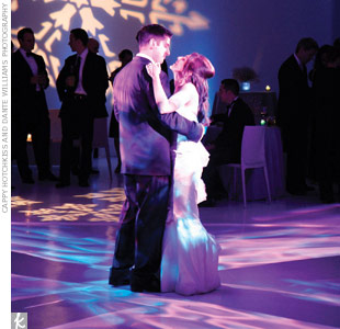 To bring home the winter theme, gobo light projections of snowflakes appeared on the walls surrounding the dance floor.