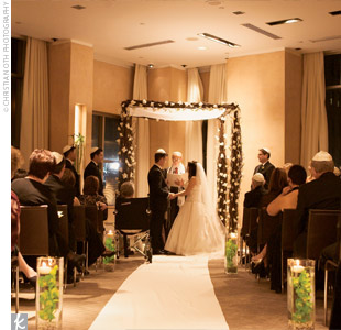 The Jewish ceremony was held in a corner of the W's ballroom.