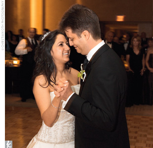 "The couple hit the dance floor for their first dance to Jack Johnson's ""Better Together."" The couple had one strict order for the DJ: ""No cheese!"" ""I was blown away by how many people were dancing the entire night,"" says Monica."