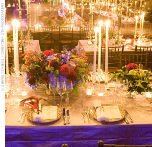 For a grand affair, Fête transformed Gotham Hall into an opulent setting inspired by the St. Petersburg palace. Hundreds of candlesticks, which created an estate-like atmosphere, topped tables draped in royal purple linens.
