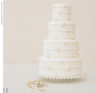 Trend 2: Flower-free Designs Arts and crafts goes chic as sewing-inspired elements are everywhere. Think exposed stitching on invites and fondant vintage buttons on a white-on-white cake. Tip When talking to your vendors, keep the look wedding-worthy by using keywords like heirloom rather than handicraft.   Go behind the scenes of this photo s ...