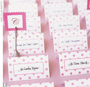 Theme #3: DotsFinally, place small letter holders in alphabetical order among the escort cards to help guests easily find their table assignments.