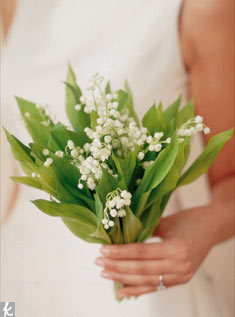 A fresh, simple bunch of lily of the valley makes a quietly beautiful bouquet.