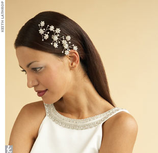 "the straight storyThese days you don't need to wear the crown to look like a princess. Simply secure a side part with some bobby pins and stud your sleek, down 'do with a few stunning crystal hair vines to create an alternative tiara effect. ""When using accessories to adorn the hair, especially for a big occasion like a wedding, the key is less is  ..."