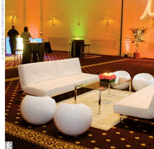 From edgy floral designs to mod lounges, every detail suited the fun, hip style of this event.