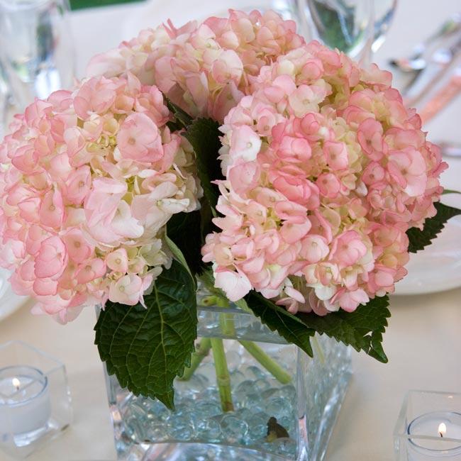 Light pink hydrangea centerpieces pixshark