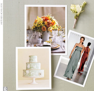 When it comes to choosing your bridesmaids dresses, consider a flattering and elegant Empire waist, floor-length dress with ruching on the bodice like the one in the snapshot by Vineyard Collection.