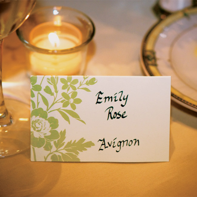 Instead of using numbers, Lauren and Gilles named their tables for cities in France that they had visited together or that were significant to the groom's family.