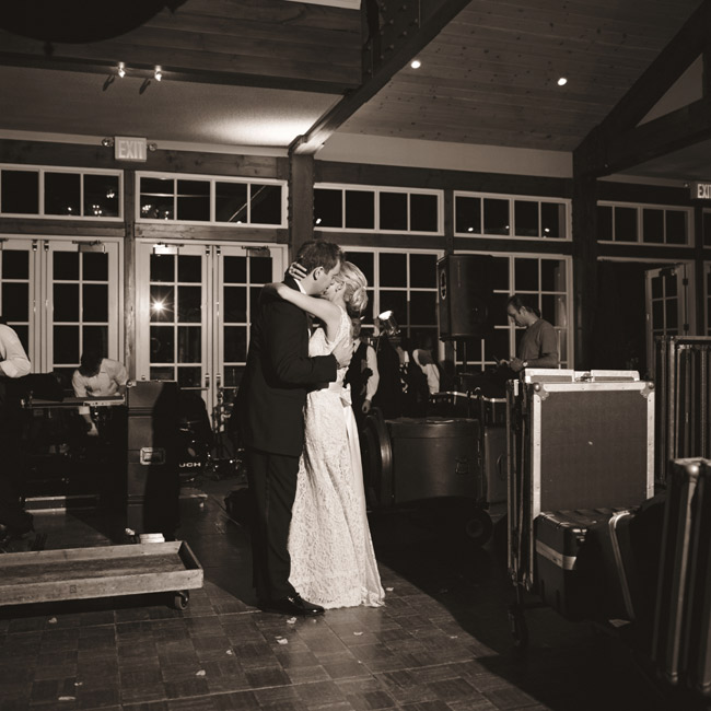 "Kimberly and Christopher took their first dance as a married couple to Elton John's ""Your Song,"" a song they had referenced in their invitations."