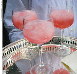 Pink Lemonade Granita Cocktails