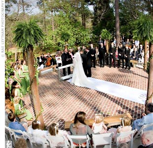 Abby and Josh said their vows in the rhododendron garden at Mobile ...