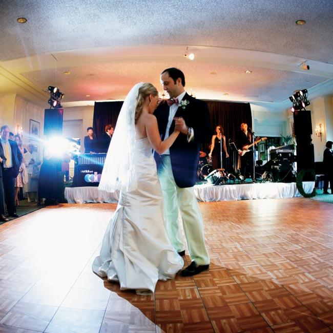 """Haley and Craig chose John Hiatt's """"Have a Little Faith in Me"""" for their first dance."""